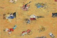12-Laberinto amarillo 2015, Acrílico s tela. 200x 130 cm.