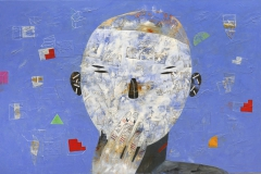 15-Hombre blanco II 2016. Acrílico sobre tela, 97 x 146 cm