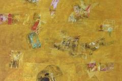 4-Desierto en la ciudad 2016. Acrilico sobre tela. 150 x 125 cm