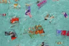 5-Ciudad sobre nivel del mar 2016. Acrilico sobre tela. 150 x 125 cm..